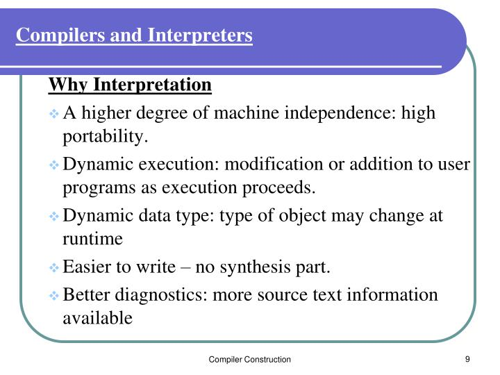 Compilers and Interpreters