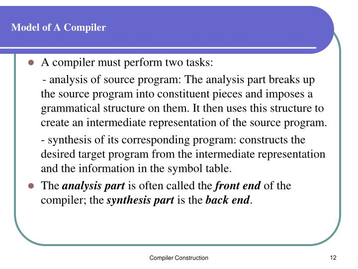 Model of A Compiler