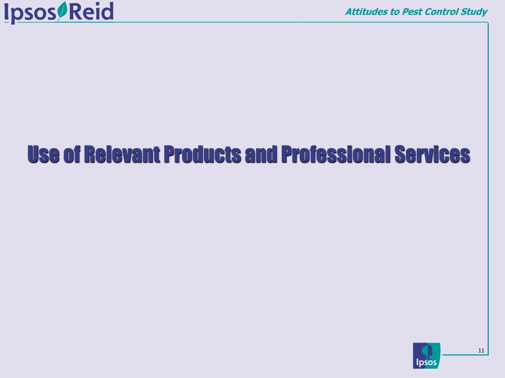 Use of Relevant Products and Professional Services