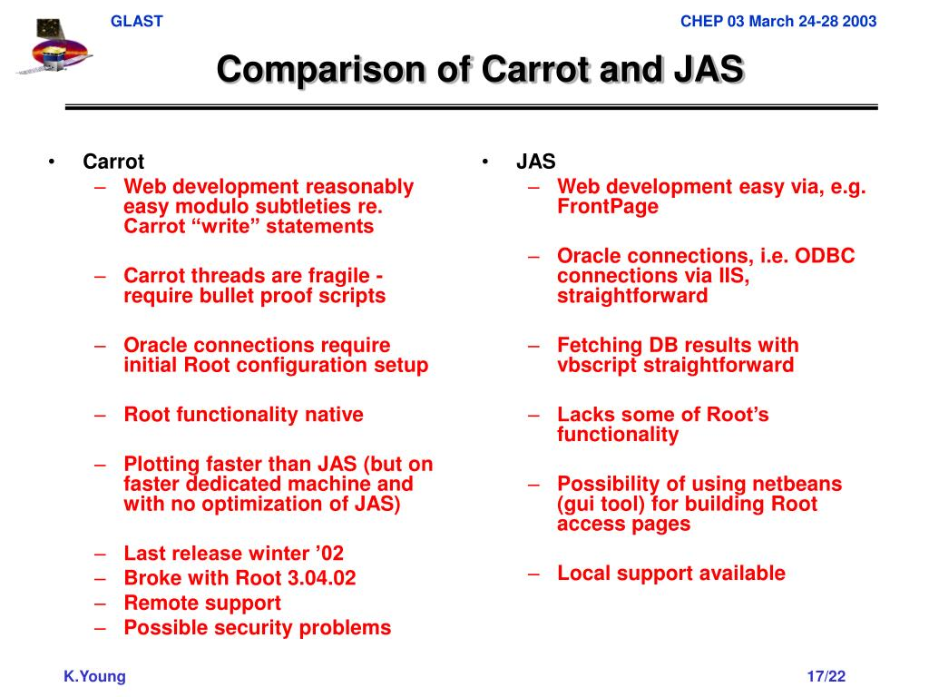 Comparison of Carrot and JAS