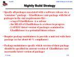 nightly build strategy
