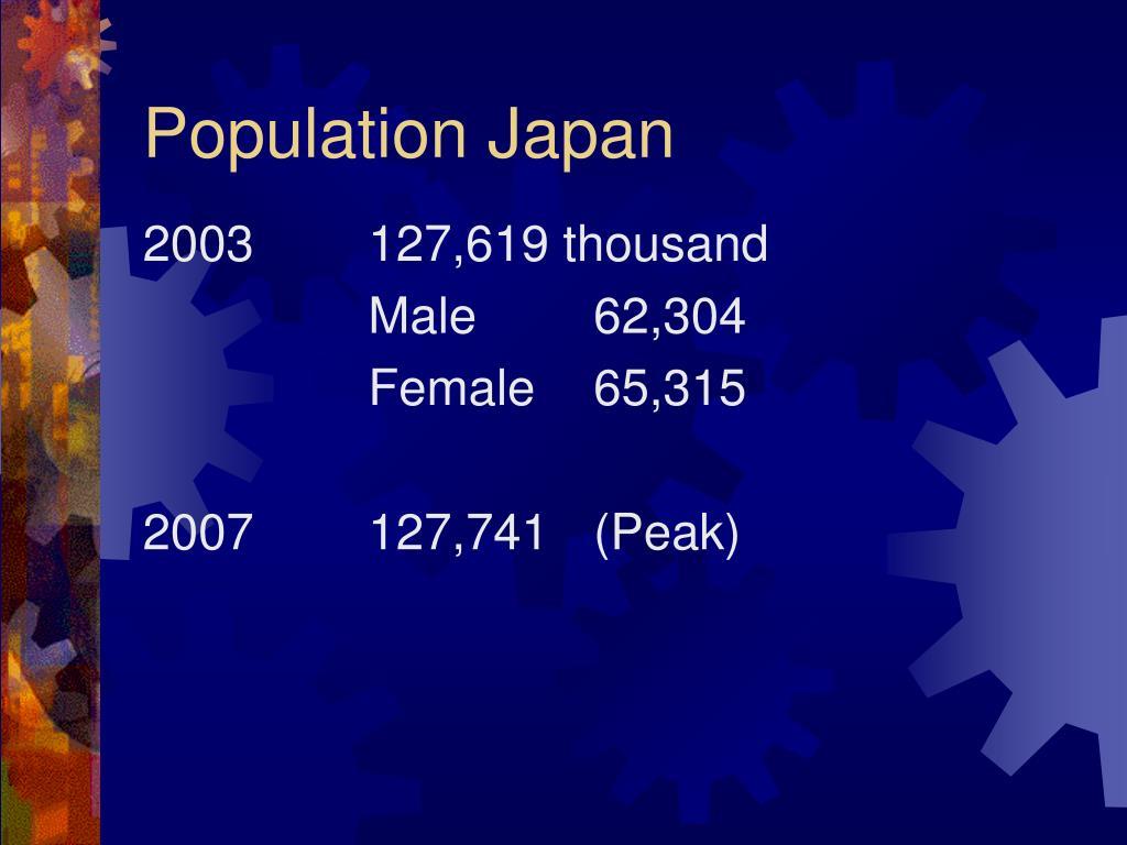 Population Japan