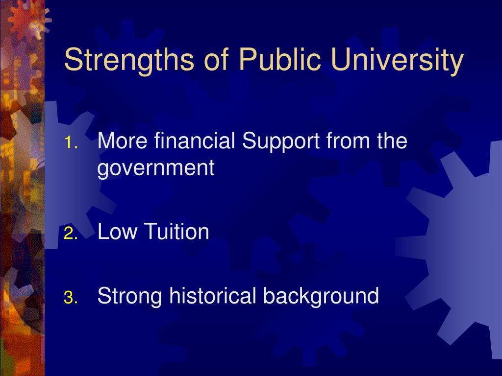 Strengths of Public University