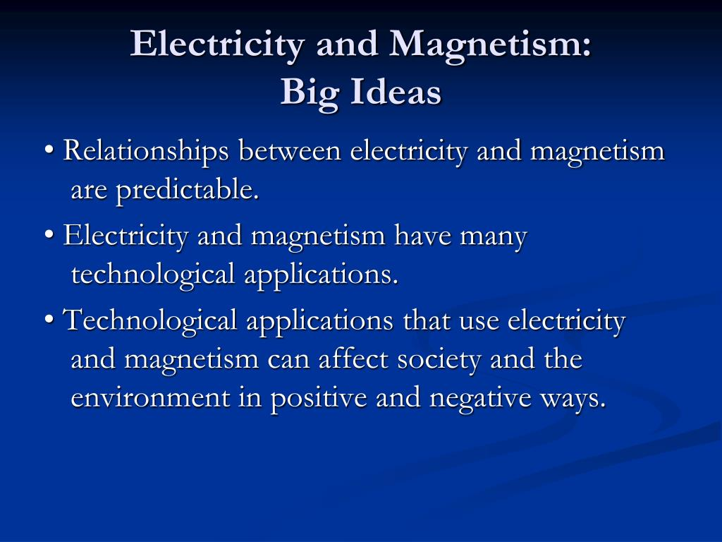Electricity and Magnetism: