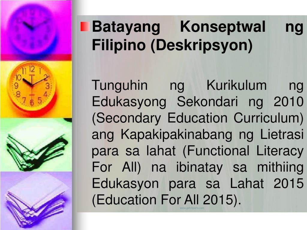 Batayang Konseptwal ng Filipino (Deskripsyon)