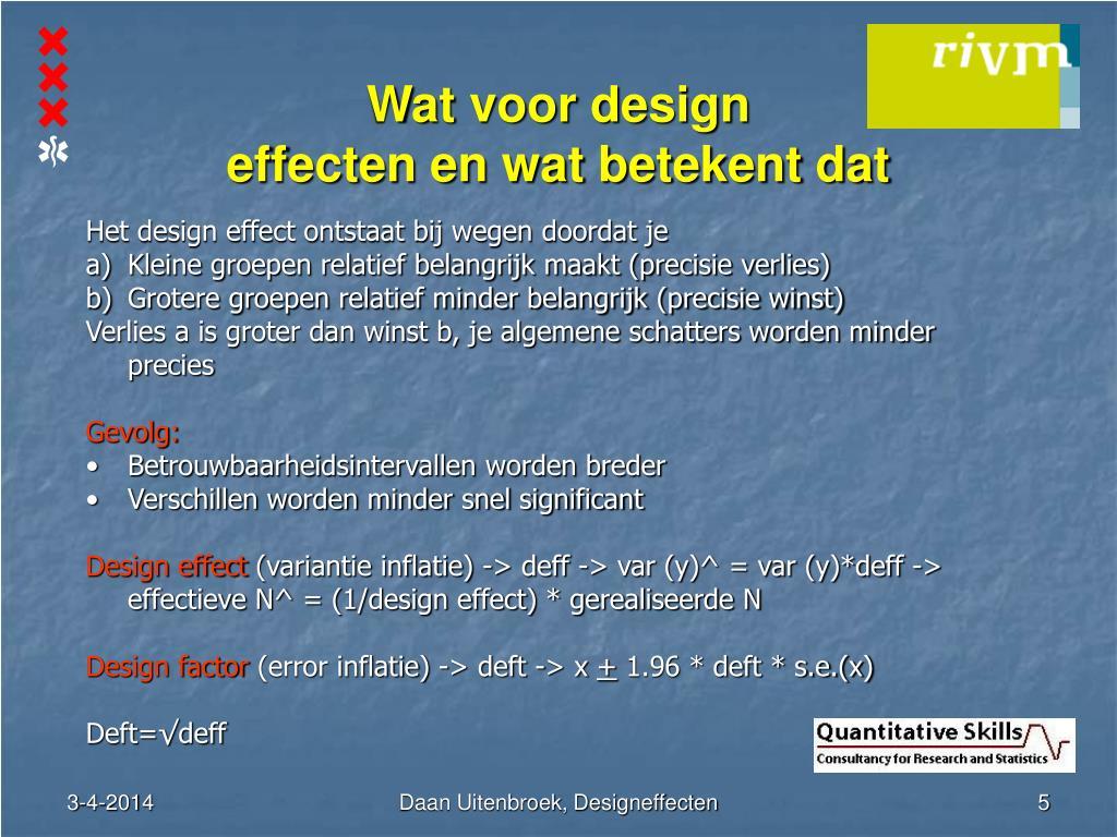 Wat voor design