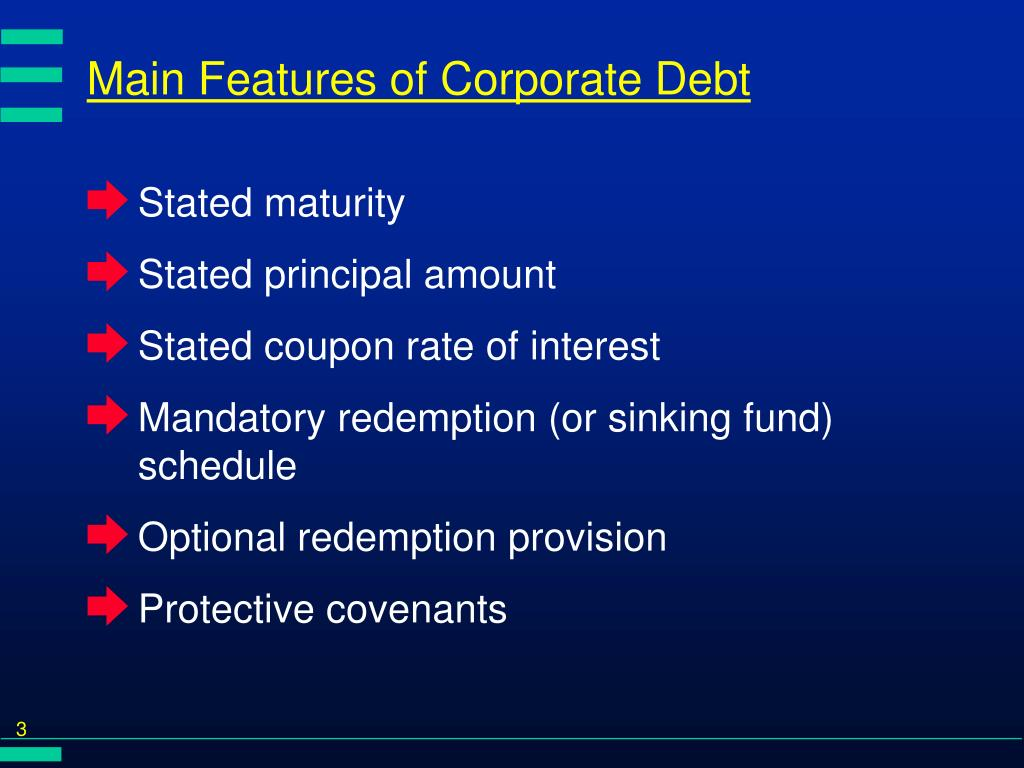 Main Features of Corporate Debt
