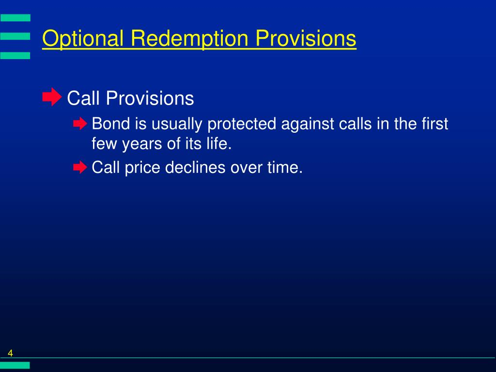 Optional Redemption Provisions