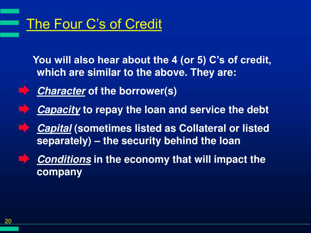 The Four C's of Credit