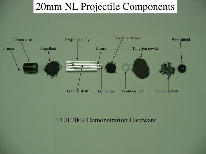 20mm NL Projectile Components