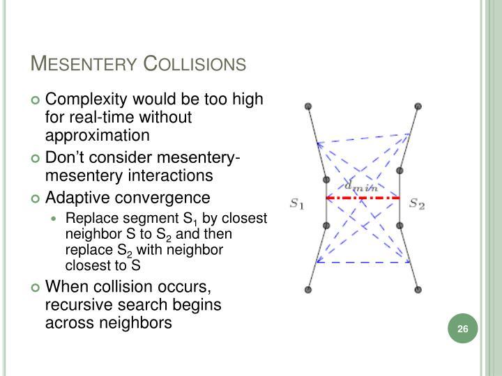 Mesentery Collisions