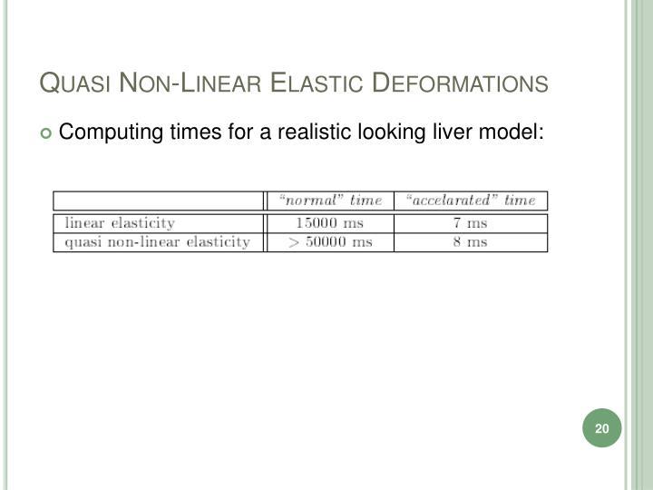 Quasi Non-Linear Elastic Deformations