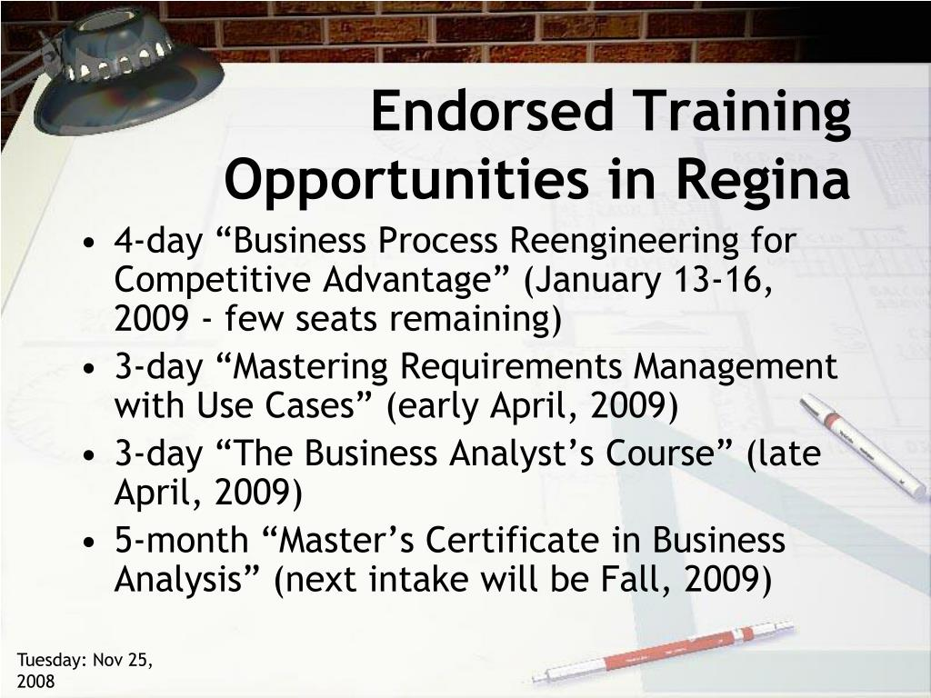 Endorsed Training Opportunities in Regina