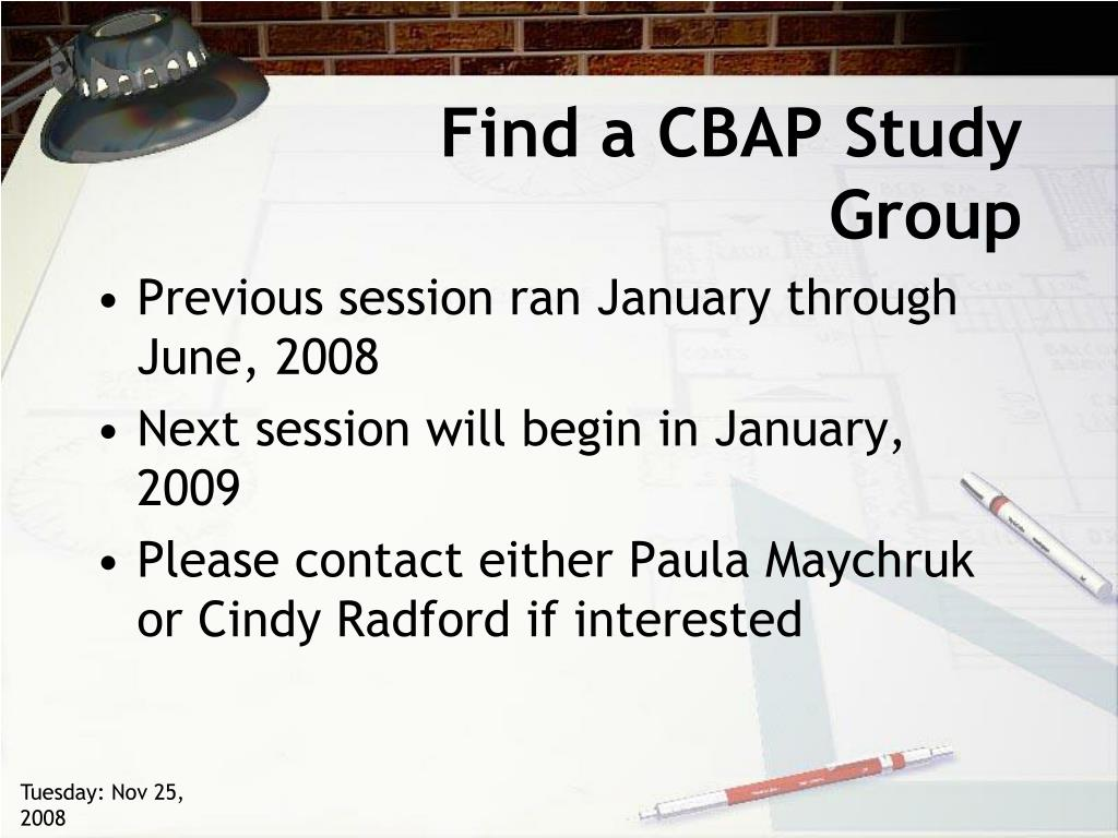 Find a CBAP Study Group