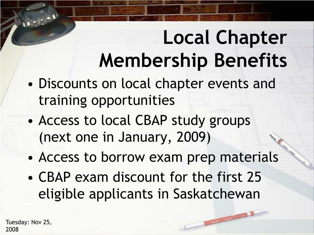 Local Chapter Membership Benefits