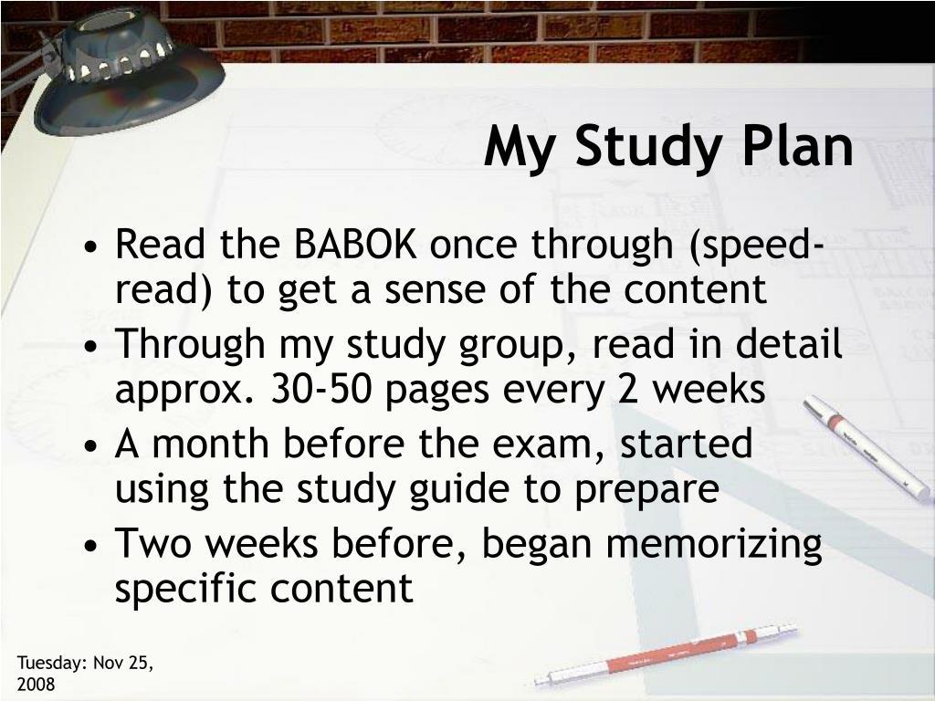 My Study Plan