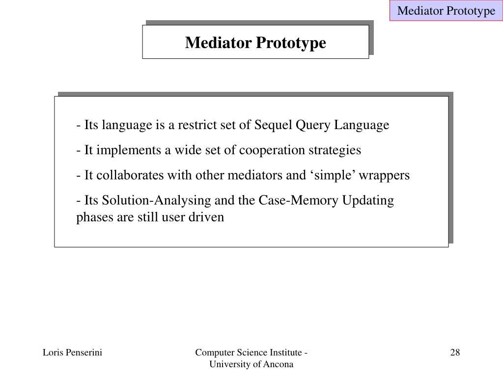Mediator Prototype