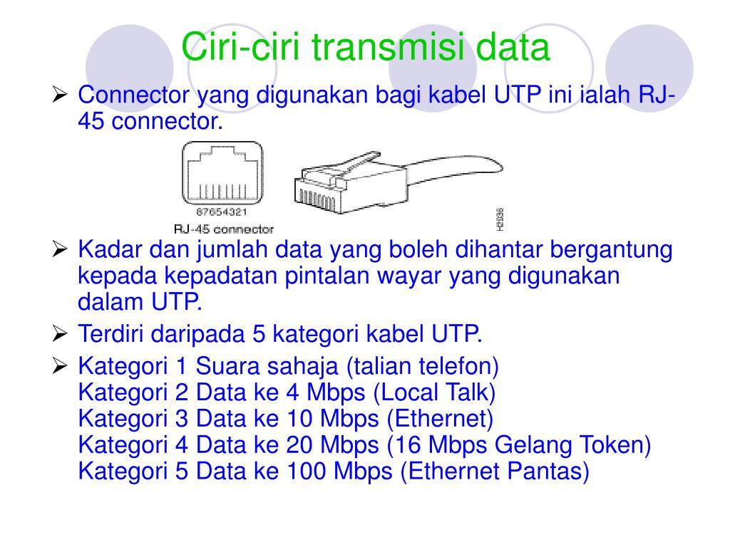 Ciri-ciri transmisi data