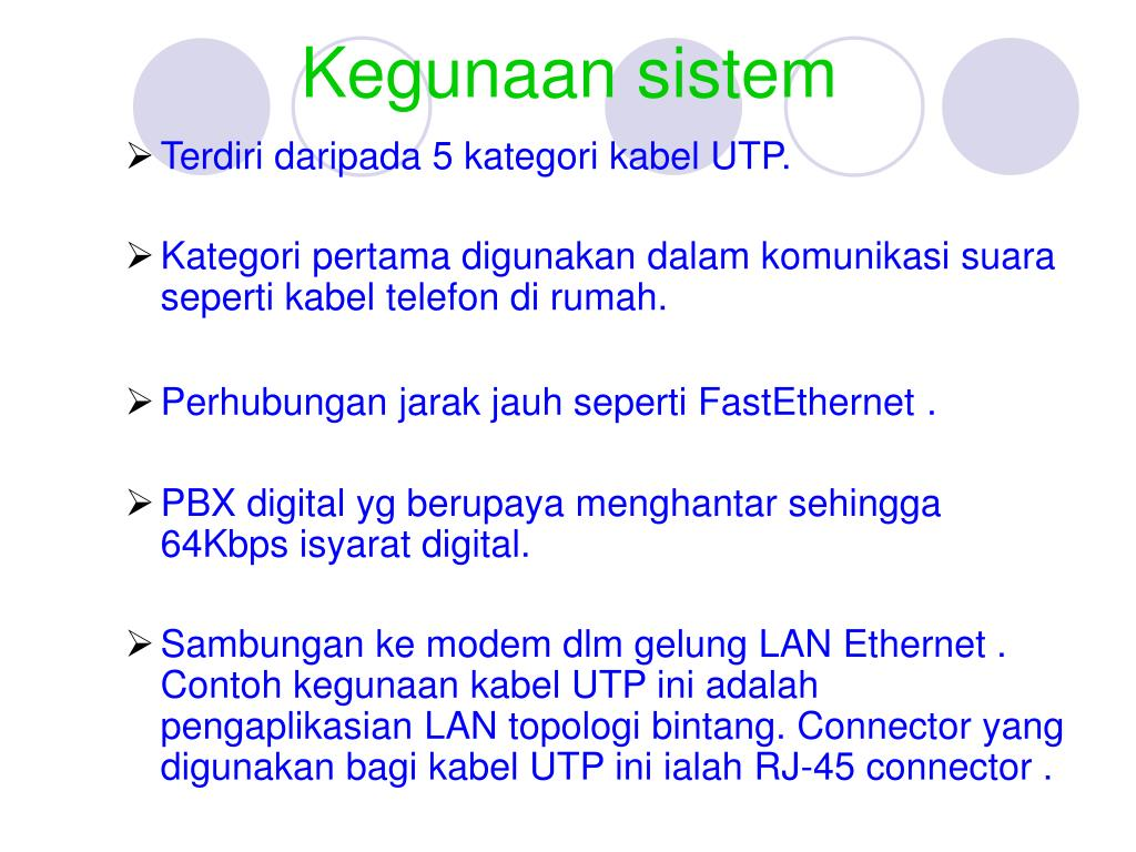 Kegunaan sistem