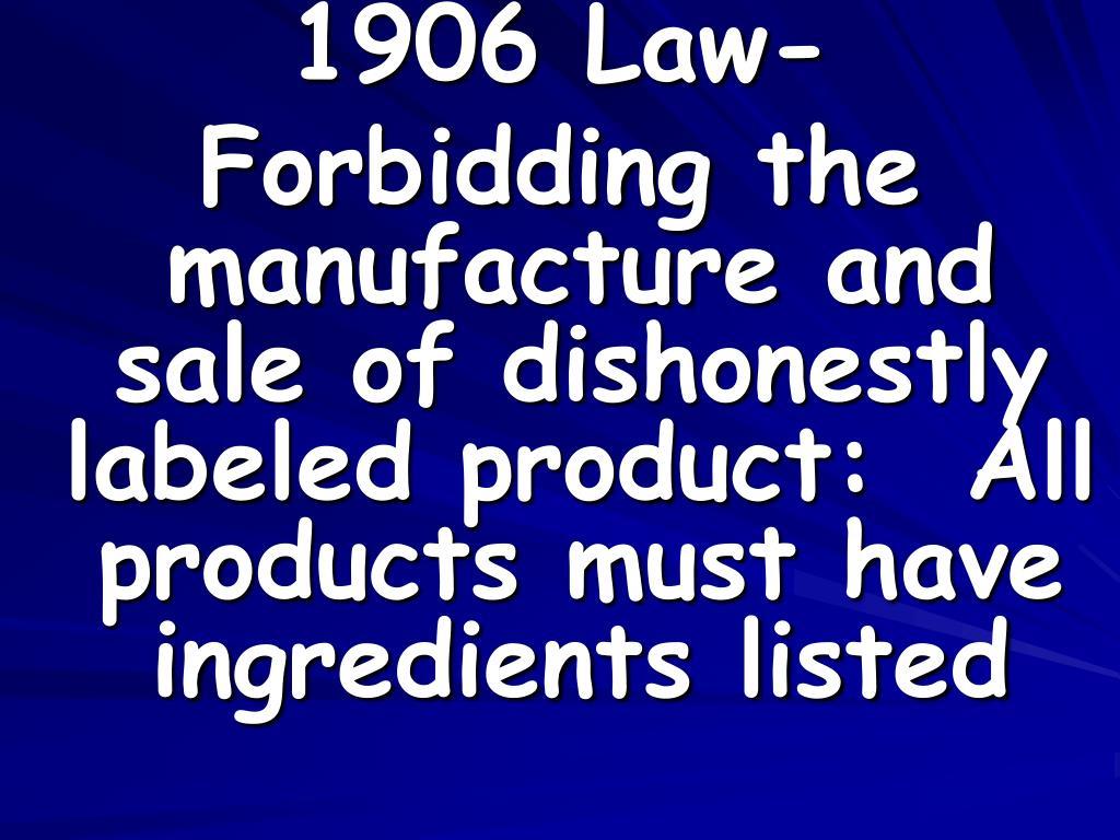 1906 Law-