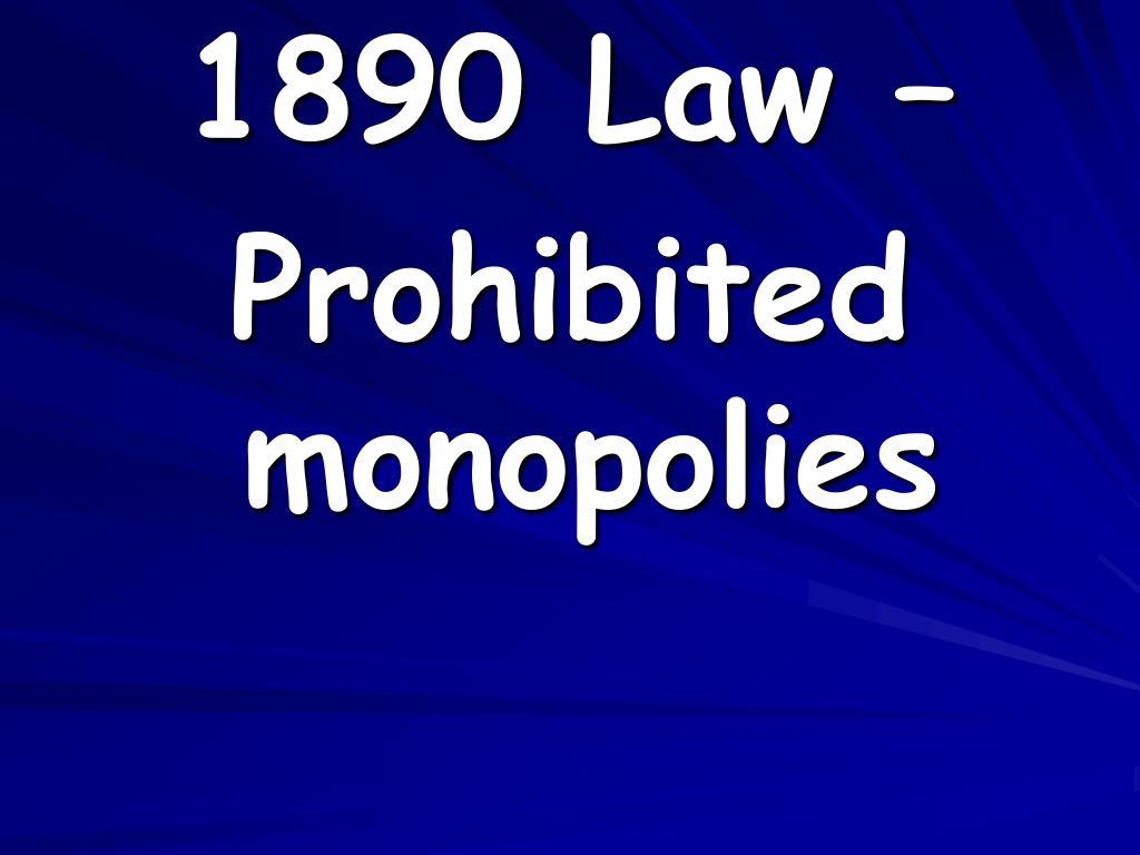1890 Law –