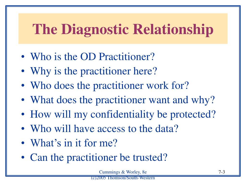 The Diagnostic Relationship
