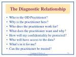 the diagnostic relationship