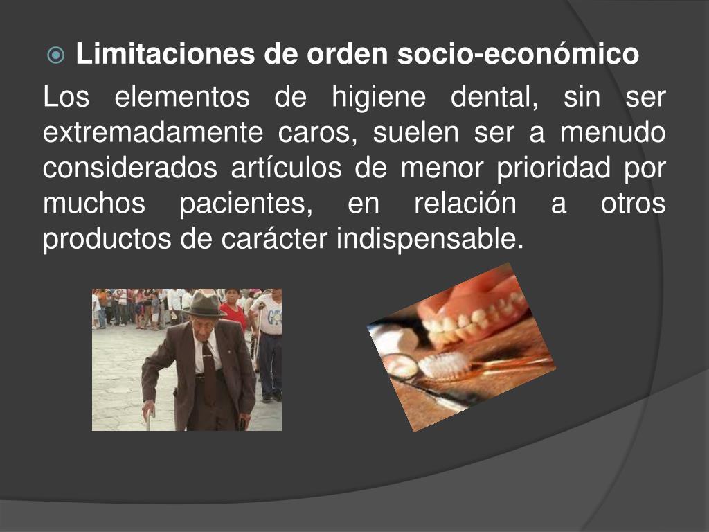 Limitaciones de orden socio-económico