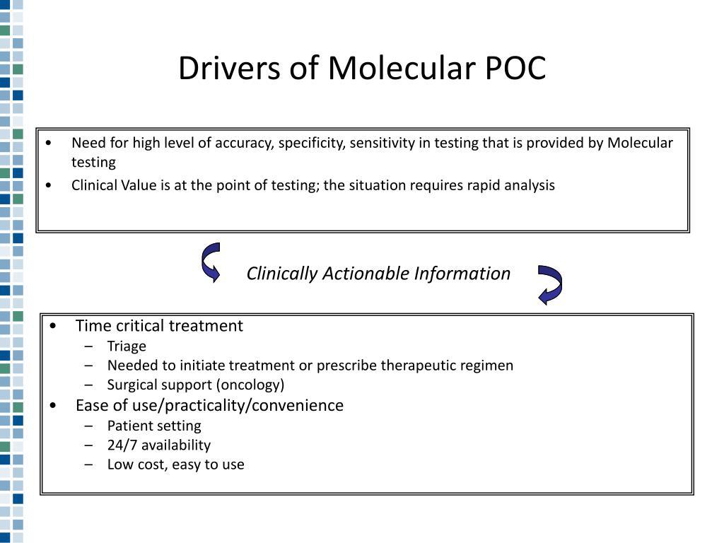 Drivers of Molecular POC