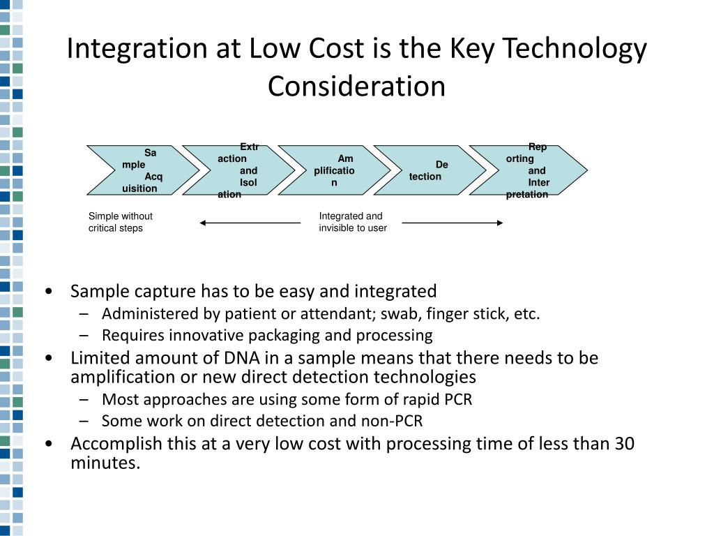 Integration at Low Cost is the Key Technology Consideration