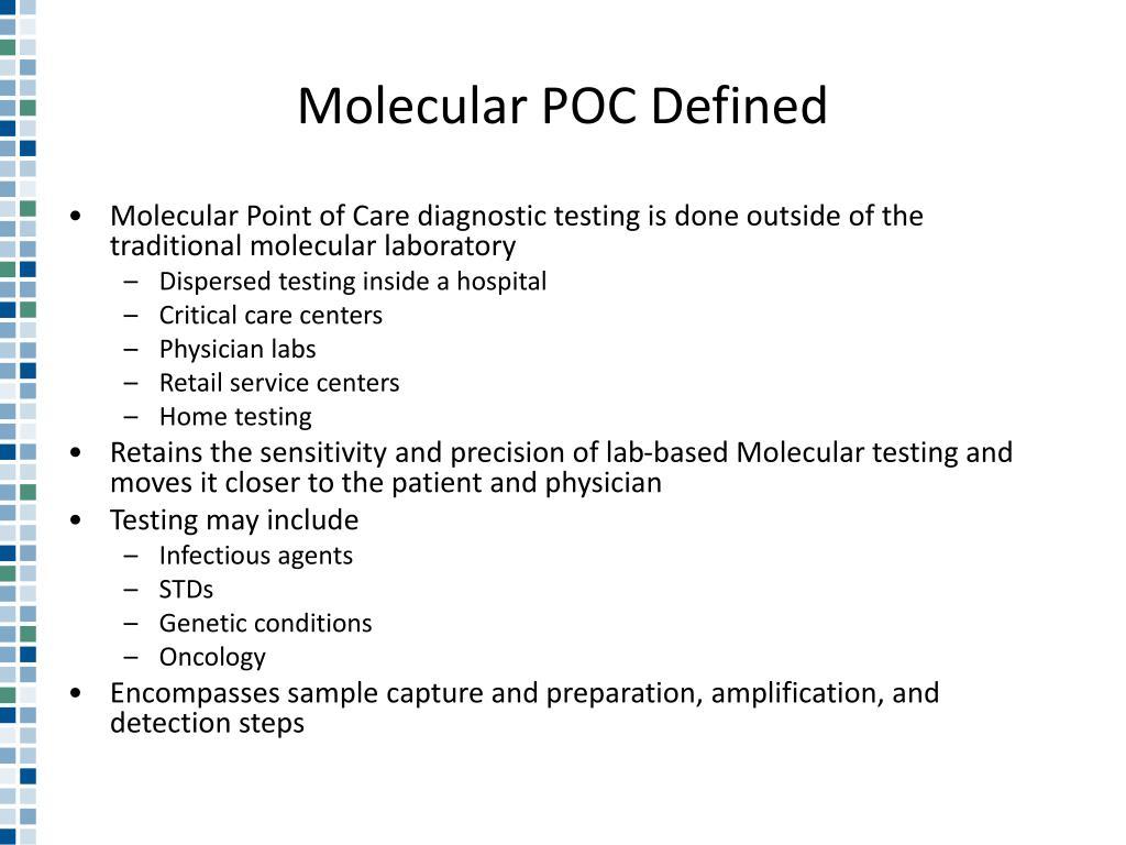 Molecular POC Defined