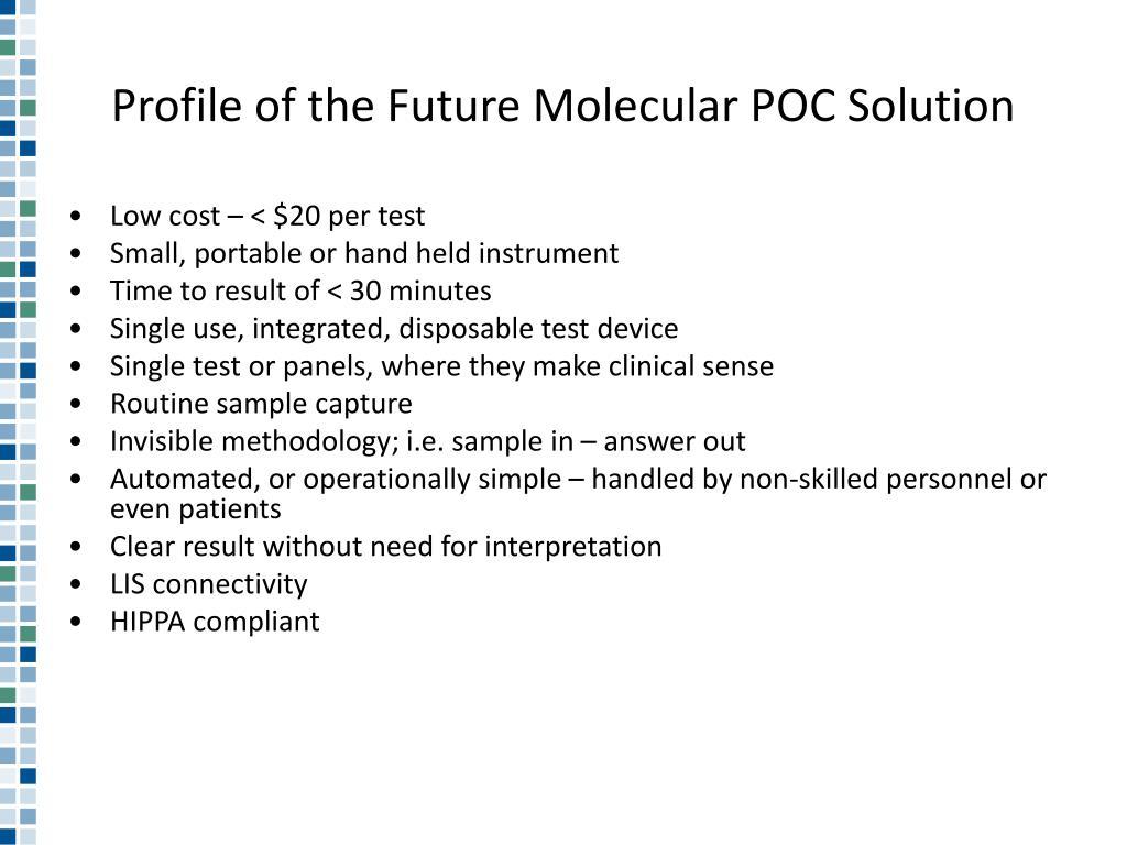 Profile of the Future Molecular POC Solution