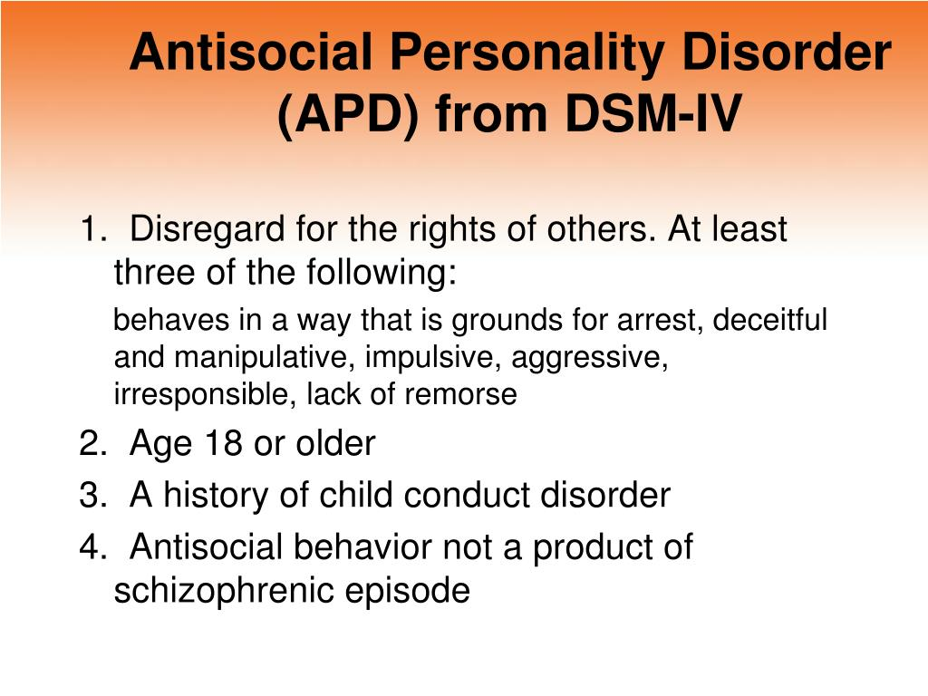 an analysis of the features of anti social personality disorder Antisocial personality disorder: prevention and  the age of 18 but the features of the disorder can manifest earlier  antisocial personality disorder:.