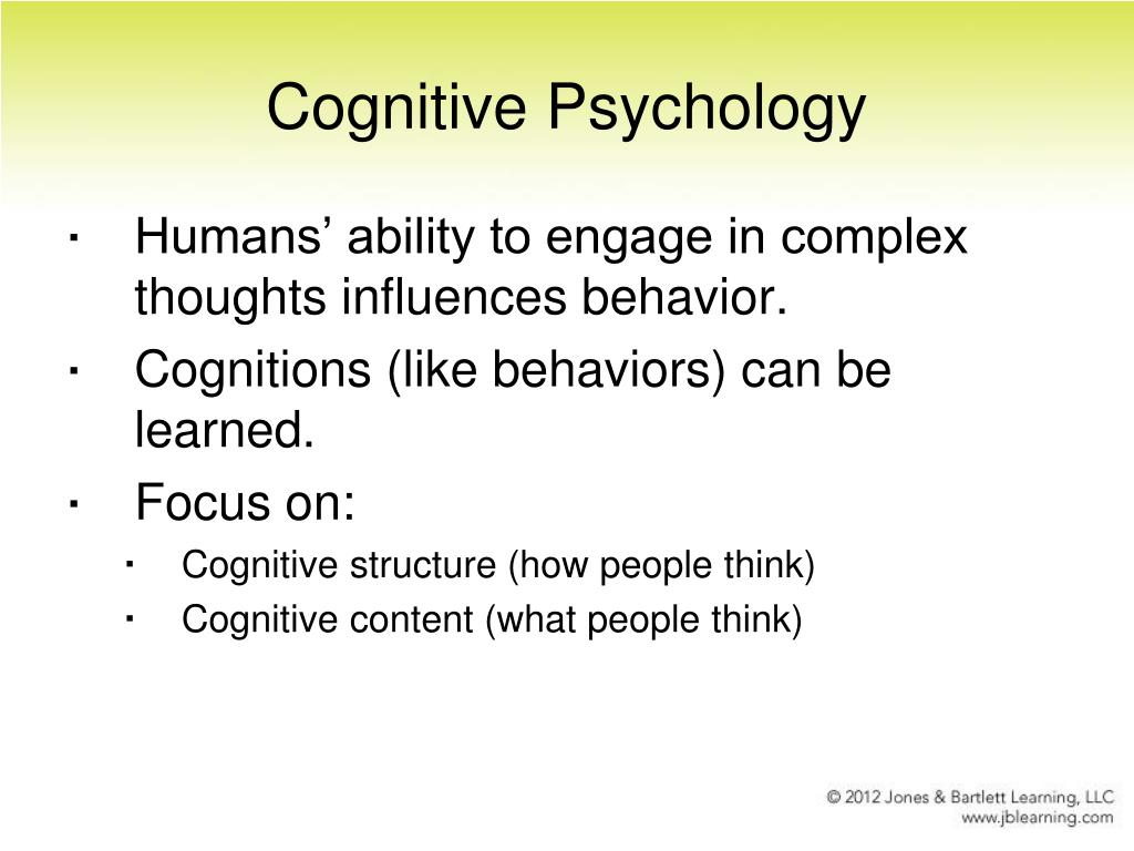 how to become cognitive psychology