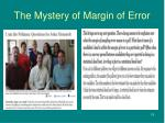 the mystery of margin of error