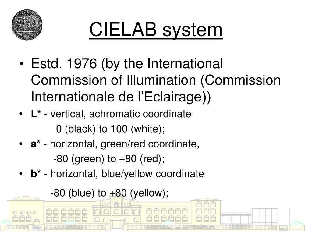 CIELAB system
