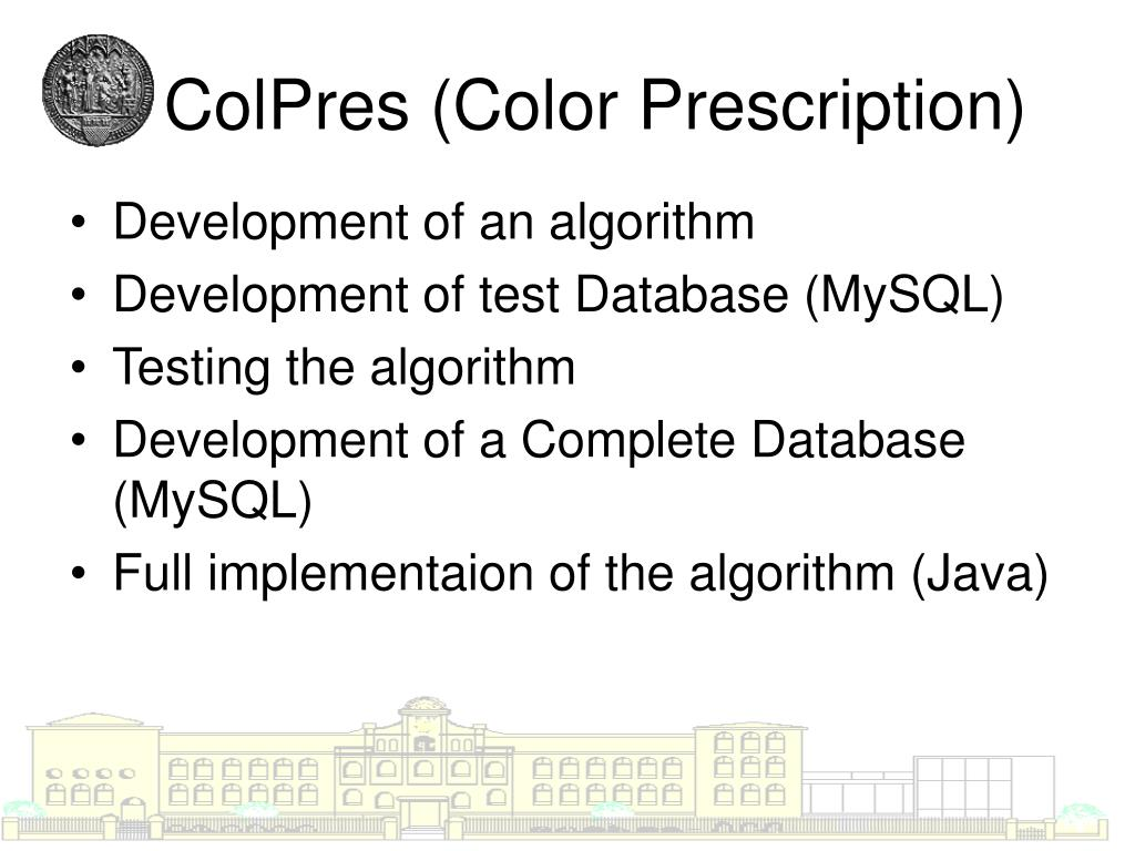 ColPres (Color Prescription)