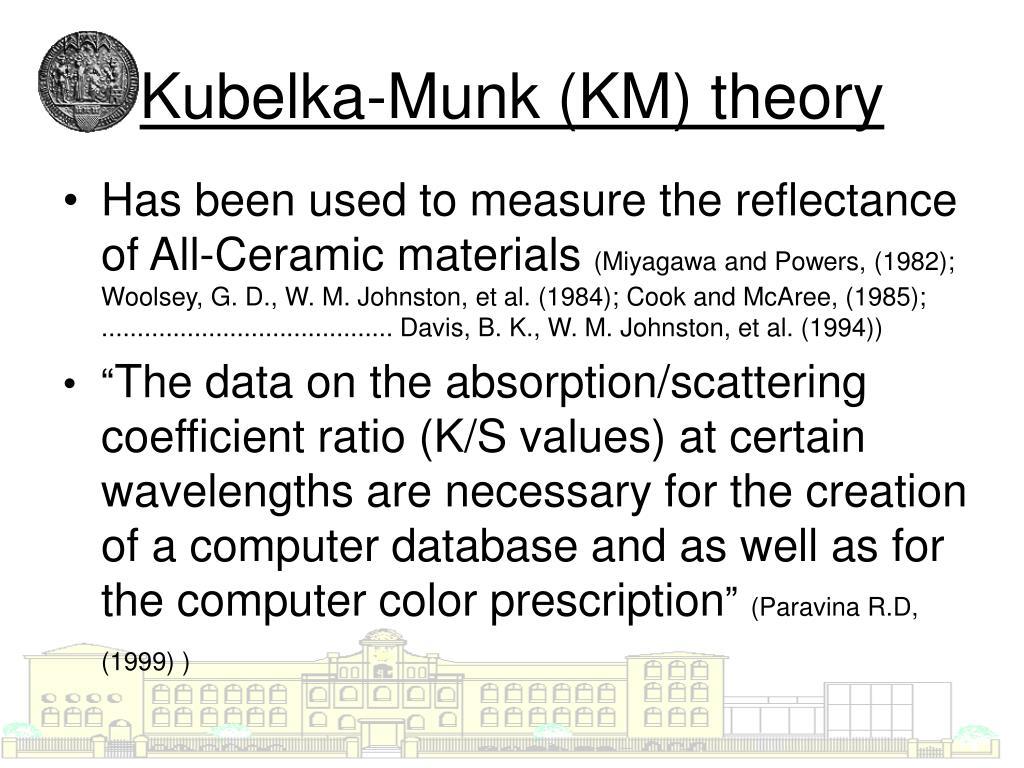 Kubelka-Munk (KM) theory