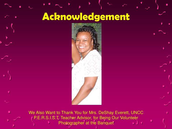 Acknowledgement