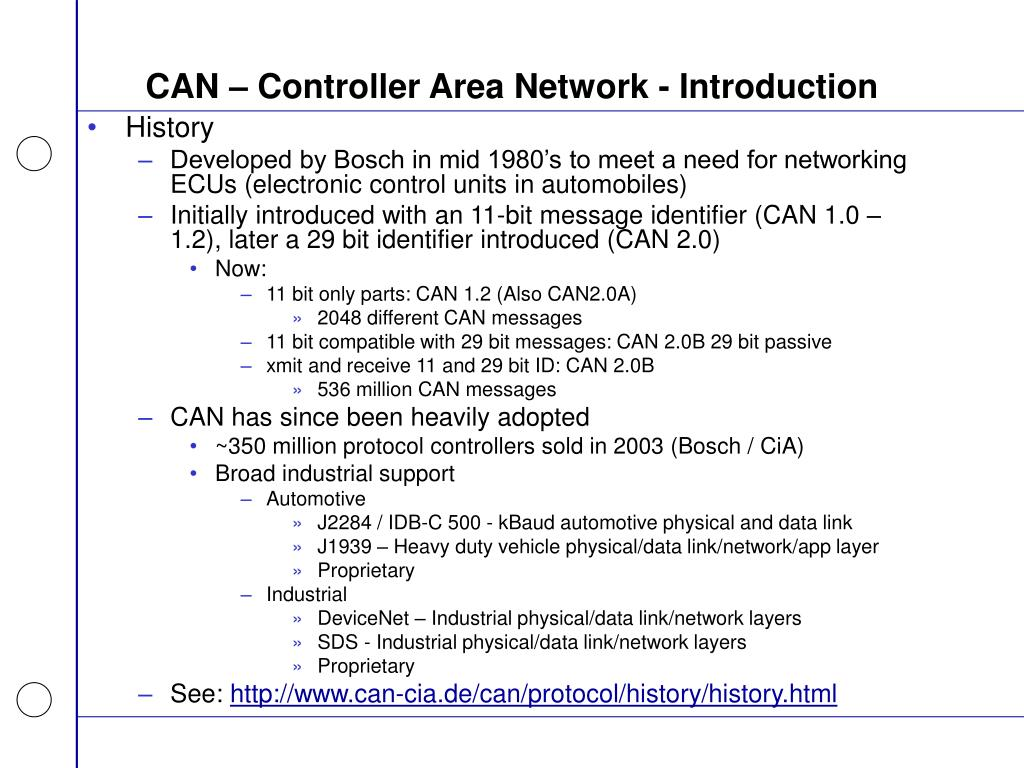 CAN – Controller Area Network - Introduction