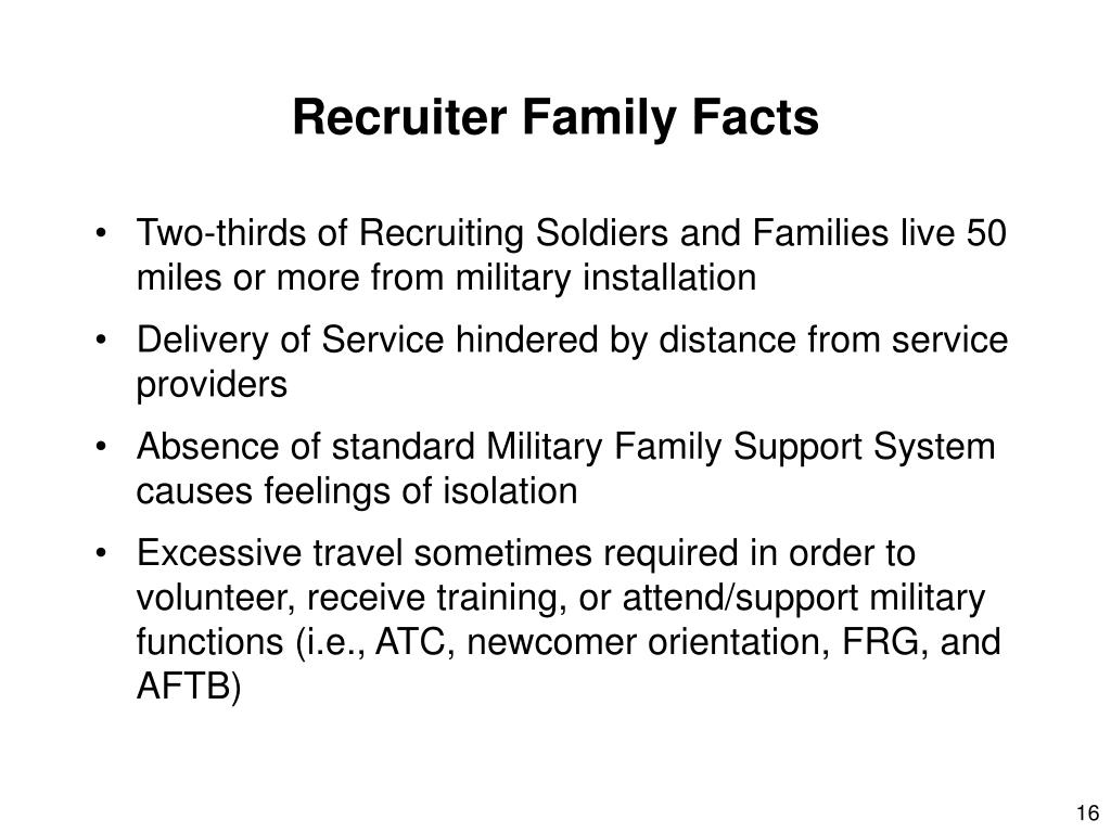 Recruiter Family Facts