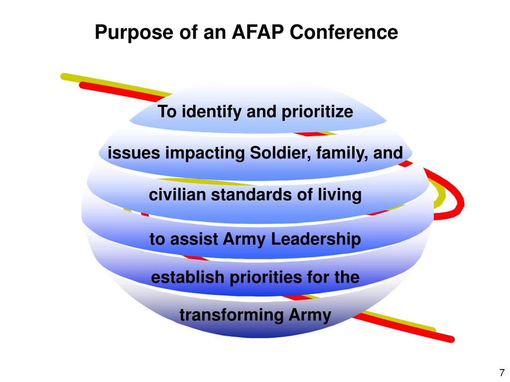 Purpose of an AFAP Conference