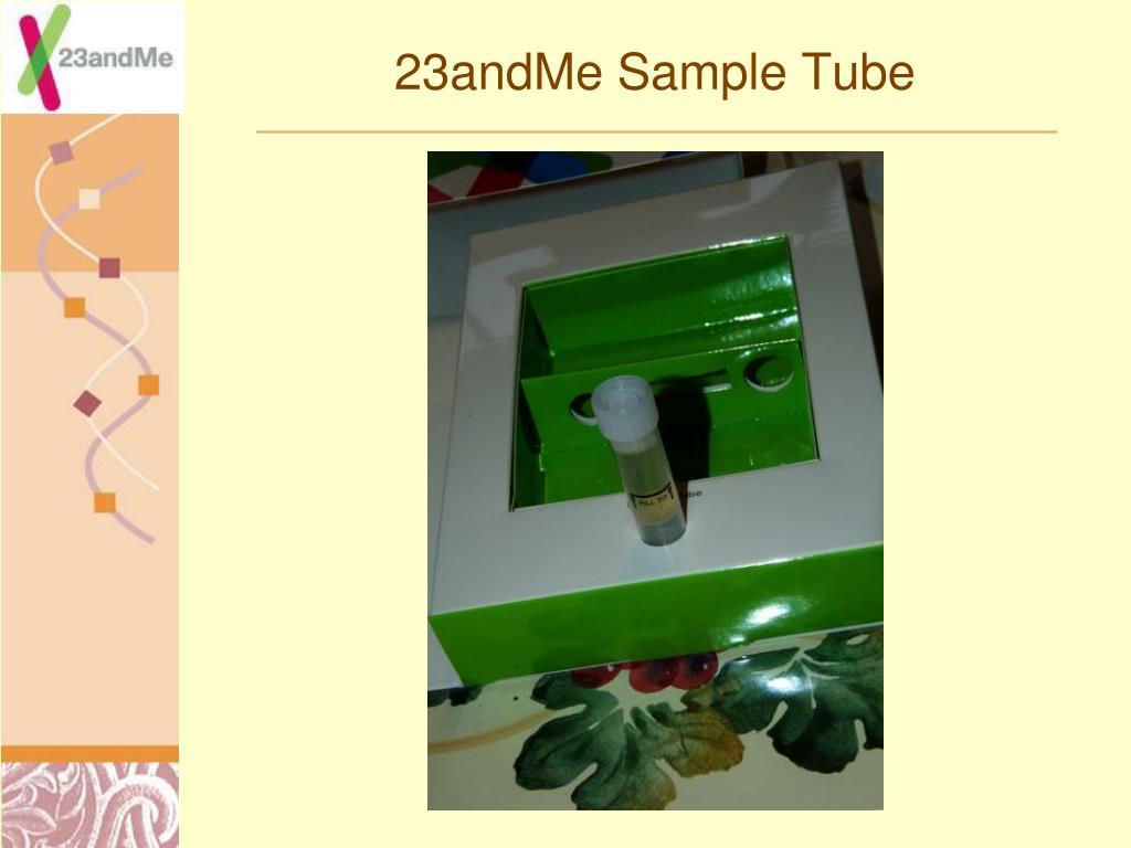 23andMe Sample Tube