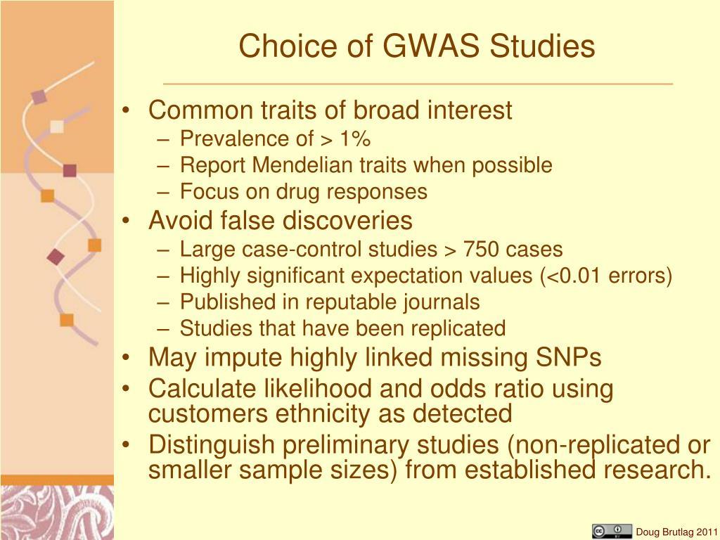 Choice of GWAS Studies