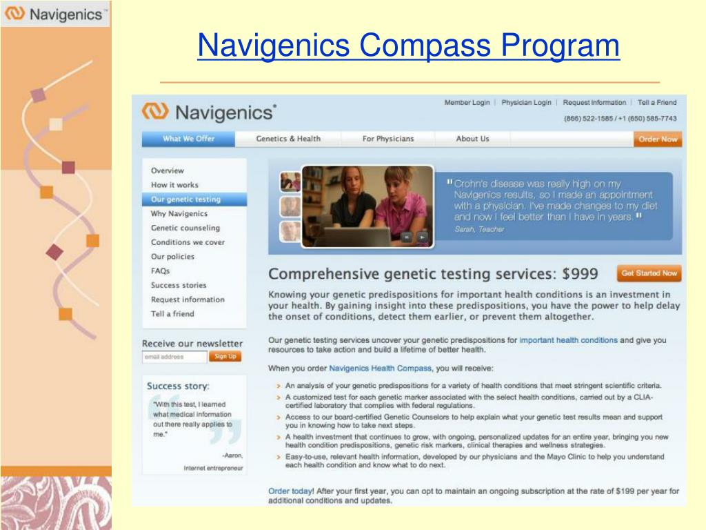 Navigenics Compass Program