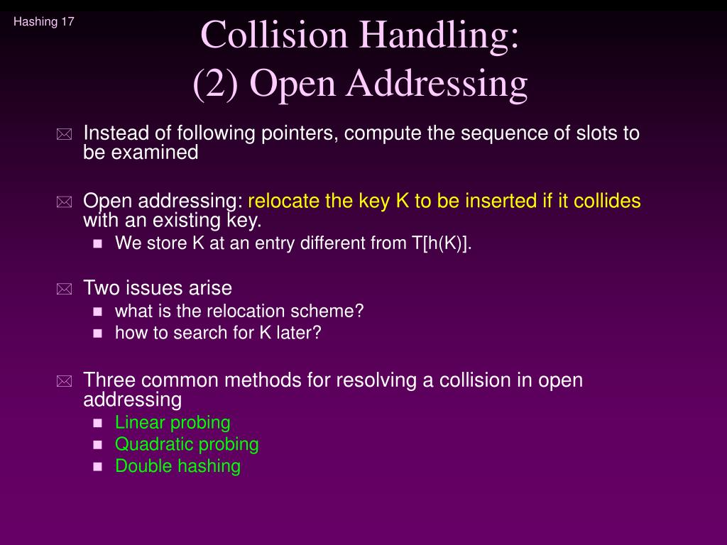 Collision Handling: