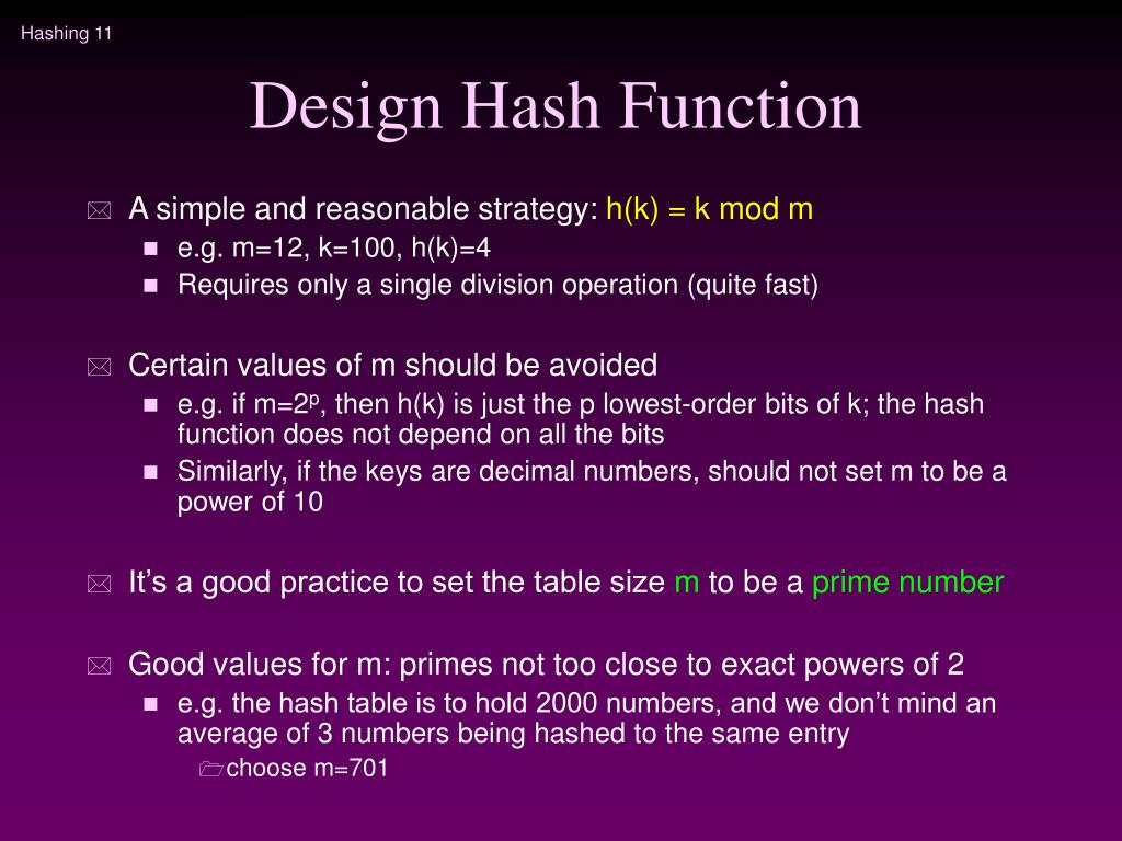 Design Hash Function