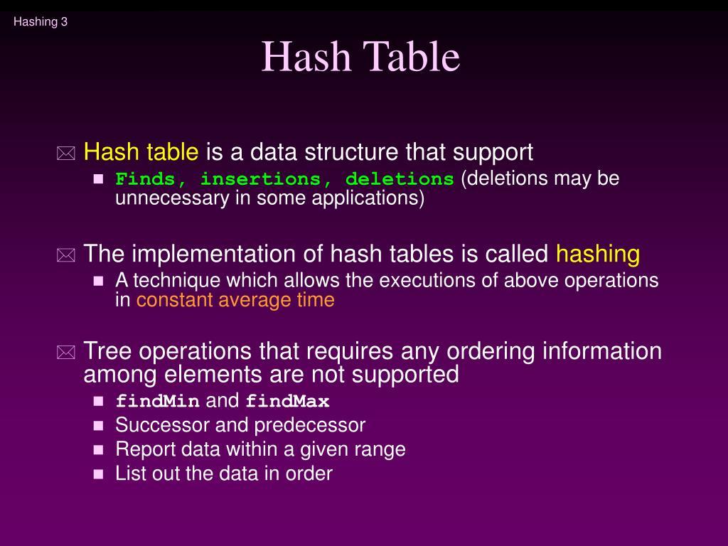 Hash Table