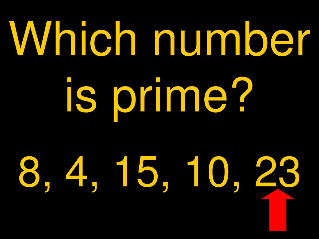 Which number is prime?