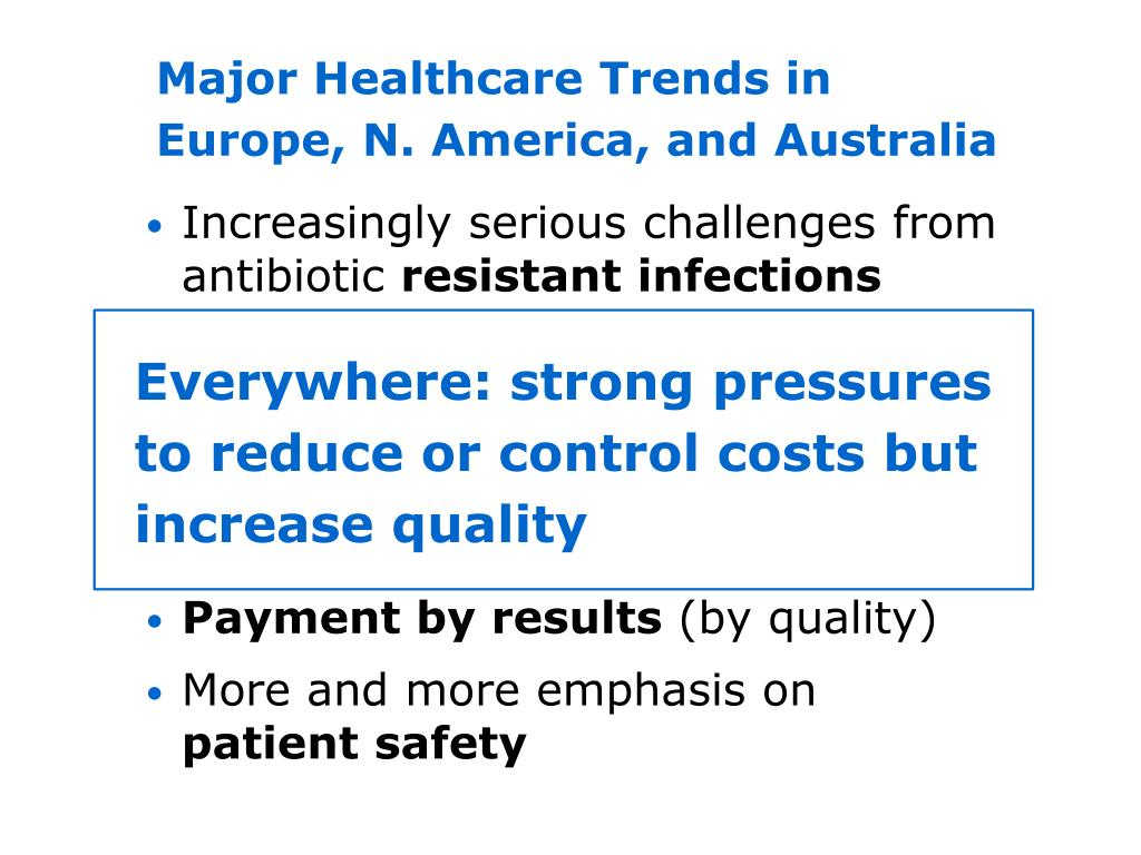 Major Healthcare Trends in